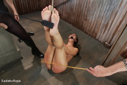 Photo number 1 from Bratty Whore Experiences Brutal Suffering-Live Show Edited shot for Sadistic Rope on Kink.com. Featuring Serena Blair, The Pope and Aiden Starr in hardcore BDSM & Fetish porn.