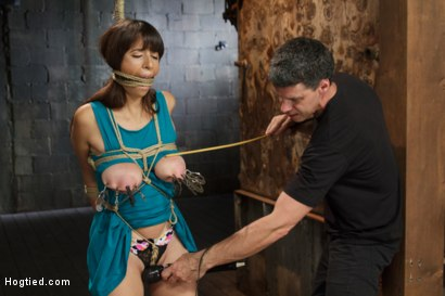 Photo number 2 from Smashing Brand New Big Tits, Beautiful Pussy shot for Hogtied on Kink.com. Featuring Nina Lopez in hardcore BDSM & Fetish porn.