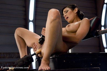 Photo number 10 from The Loaded Gun of Porn: Beretta James shot for Fucking Machines on Kink.com. Featuring Beretta James in hardcore BDSM & Fetish porn.