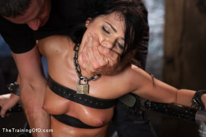 Photo number 14 from The Training of a Model or a Slave? Day Two shot for The Training Of O on Kink.com. Featuring Adriana Chechik and Mickey Mod in hardcore BDSM & Fetish porn.