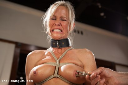 Photo number 8 from The Training of a Domestic MILF, Day One shot for The Training Of O on Kink.com. Featuring Simone Sonay in hardcore BDSM & Fetish porn.