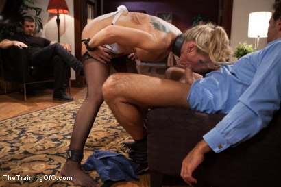 Photo number 7 from The Training of a Domestic MILF, Day Two shot for The Training Of O on Kink.com. Featuring Simone Sonay and Steven St. Croix in hardcore BDSM & Fetish porn.