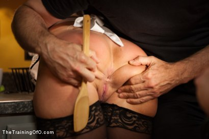 Photo number 3 from The Training of a Domestic MILF, Day Two shot for The Training Of O on Kink.com. Featuring Simone Sonay and Steven St. Croix in hardcore BDSM & Fetish porn.