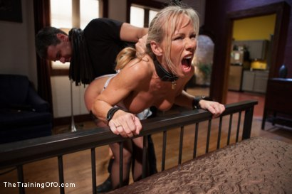 Photo number 6 from The Training of a Domestic MILF, Day Two shot for The Training Of O on Kink.com. Featuring Simone Sonay and Steven St. Croix in hardcore BDSM & Fetish porn.