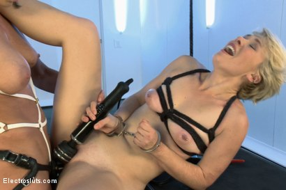 Photo number 21 from New Girl Takes Electricity LIVE in Her FIRST EVER PORN!!! shot for Electro Sluts on Kink.com. Featuring Lexi LaRue and Ariel X in hardcore BDSM & Fetish porn.