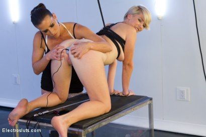 Photo number 2 from New Girl Takes Electricity LIVE in Her FIRST EVER PORN!!! shot for Electro Sluts on Kink.com. Featuring Lexi LaRue and Ariel X in hardcore BDSM & Fetish porn.