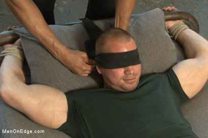 Photo number 2 from  Bodybuilder gets edged by a guy for the first time shot for Men On Edge on Kink.com. Featuring Beau Warner in hardcore BDSM & Fetish porn.