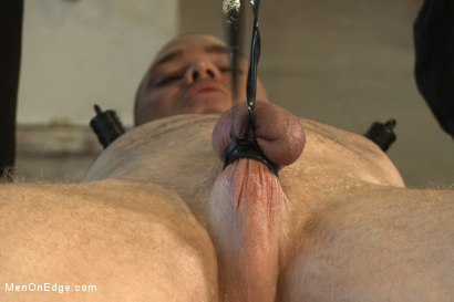 Photo number 12 from  Bodybuilder gets edged by a guy for the first time shot for Men On Edge on Kink.com. Featuring Beau Warner in hardcore BDSM & Fetish porn.