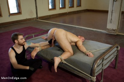 Photo number 13 from  Bodybuilder gets edged by a guy for the first time shot for Men On Edge on Kink.com. Featuring Beau Warner in hardcore BDSM & Fetish porn.