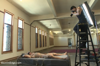 Photo number 5 from  Bodybuilder gets edged by a guy for the first time shot for Men On Edge on Kink.com. Featuring Beau Warner in hardcore BDSM & Fetish porn.