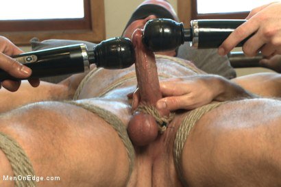 Photo number 8 from  Bodybuilder gets edged by a guy for the first time shot for Men On Edge on Kink.com. Featuring Beau Warner in hardcore BDSM & Fetish porn.