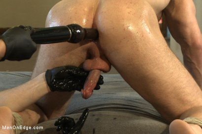 Photo number 14 from  Bodybuilder gets edged by a guy for the first time shot for Men On Edge on Kink.com. Featuring Beau Warner in hardcore BDSM & Fetish porn.