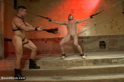 Photo number 10 from The official greeting of the dom of the house shot for Bound Gods on Kink.com. Featuring Sebastian Keys and Trenton Ducati in hardcore BDSM & Fetish porn.