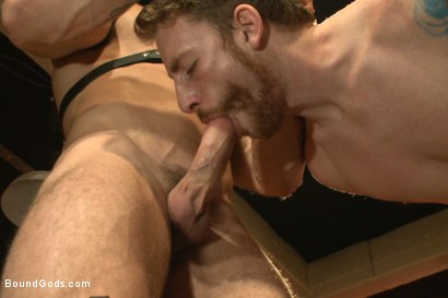 Photo number 4 from The official greeting of the dom of the house shot for Bound Gods on Kink.com. Featuring Sebastian Keys and Trenton Ducati in hardcore BDSM & Fetish porn.