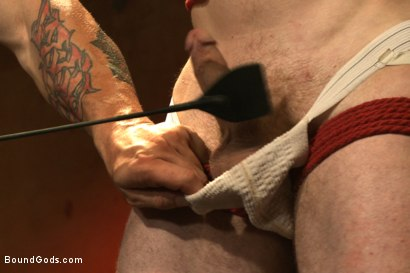 Photo number 2 from The official greeting of the dom of the house shot for Bound Gods on Kink.com. Featuring Sebastian Keys and Trenton Ducati in hardcore BDSM & Fetish porn.