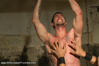 Photo number 3 from Straight stud Casey More - The Chair - The Pit - The Water Chamber  shot for 30 Minutes of Torment on Kink.com. Featuring Casey More in hardcore BDSM & Fetish porn.
