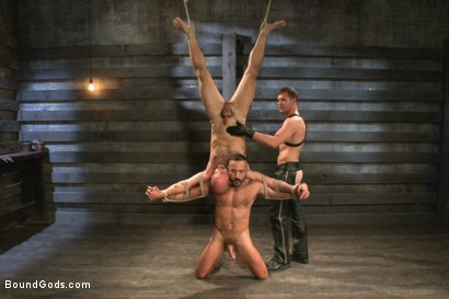 Photo number 12 from Alessio and Rogue - Real Life Couple Series shot for Bound Gods on Kink.com. Featuring Rogue Status, Hayden Richards and Alessio Romero in hardcore BDSM & Fetish porn.
