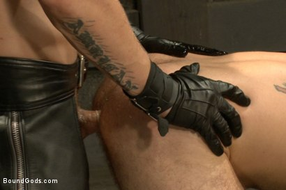 Photo number 13 from Alessio and Rogue - Real Life Couple Series shot for Bound Gods on Kink.com. Featuring Rogue Status, Hayden Richards and Alessio Romero in hardcore BDSM & Fetish porn.