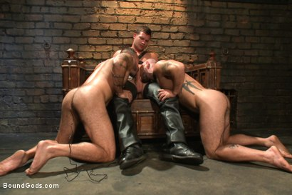 Photo number 7 from Alessio and Rogue - Real Life Couple Series shot for Bound Gods on Kink.com. Featuring Rogue Status, Hayden Richards and Alessio Romero in hardcore BDSM & Fetish porn.