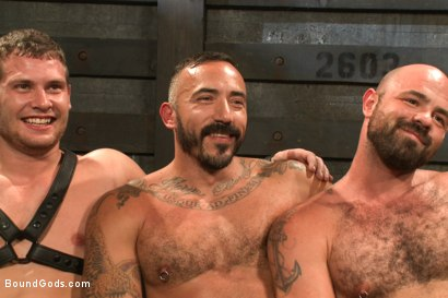 Photo number 15 from Alessio and Rogue - Real Life Couple Series shot for Bound Gods on Kink.com. Featuring Rogue Status, Hayden Richards and Alessio Romero in hardcore BDSM & Fetish porn.