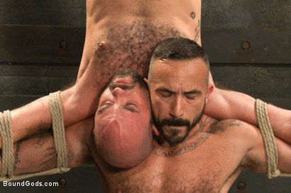 Photo number 10 from Alessio and Rogue - Real Life Couple Series shot for Bound Gods on Kink.com. Featuring Rogue Status, Hayden Richards and Alessio Romero in hardcore BDSM & Fetish porn.