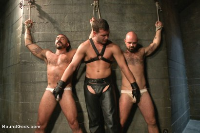 Photo number 4 from Alessio and Rogue - Real Life Couple Series shot for Bound Gods on Kink.com. Featuring Rogue Status, Hayden Richards and Alessio Romero in hardcore BDSM & Fetish porn.