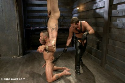 Photo number 11 from Alessio and Rogue - Real Life Couple Series shot for Bound Gods on Kink.com. Featuring Rogue Status, Hayden Richards and Alessio Romero in hardcore BDSM & Fetish porn.