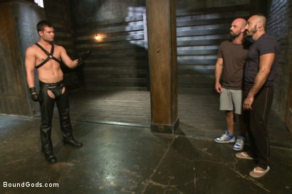 Photo number 1 from Alessio and Rogue - Real Life Couple Series shot for Bound Gods on Kink.com. Featuring Rogue Status, Hayden Richards and Alessio Romero in hardcore BDSM & Fetish porn.