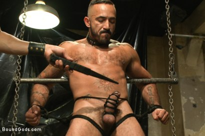 Photo number 3 from Onyx vs Redz - Pre-Folsom Street Fair Live Show shot for Bound Gods on Kink.com. Featuring Van Darkholme, Christian Wilde, Jessie Colter, Alessio Romero and Hayden Richards in hardcore BDSM & Fetish porn.