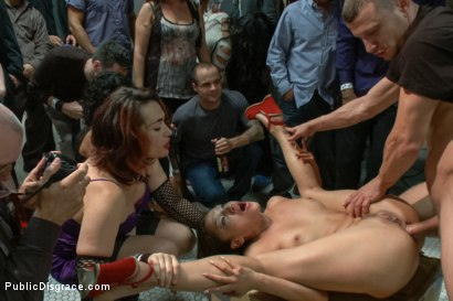 Photo number 7 from Latina Cutie Made to Pee and Squirt in Front of Strangers, Ass Fucked shot for Public Disgrace on Kink.com. Featuring Vicki Chase and Mr. Pete in hardcore BDSM & Fetish porn.