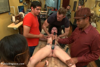 Photo number 1 from Attention whore get's ass-fucked and disgraced shot for Public Disgrace on Kink.com. Featuring Veruca James and Bill Bailey in hardcore BDSM & Fetish porn.