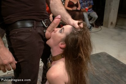 Photo number 9 from Hi Daddy!  shot for Public Disgrace on Kink.com. Featuring Kennedy Adams and John Strong in hardcore BDSM & Fetish porn.