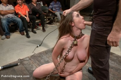 Photo number 13 from Hi Daddy!  shot for Public Disgrace on Kink.com. Featuring Kennedy Adams and John Strong in hardcore BDSM & Fetish porn.