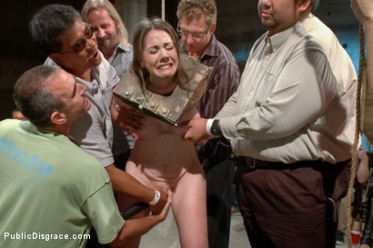 Photo number 6 from Hi Daddy!  shot for Public Disgrace on Kink.com. Featuring Kennedy Adams and John Strong in hardcore BDSM & Fetish porn.