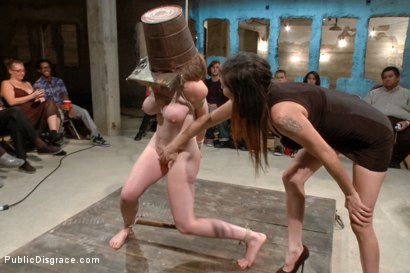 Photo number 5 from Hi Daddy!  shot for Public Disgrace on Kink.com. Featuring Kennedy Adams and John Strong in hardcore BDSM & Fetish porn.