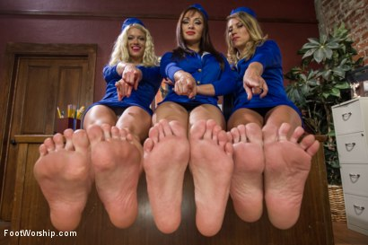 Photo number 1 from First Class Foot Service: Flexibility Is Our Specialty  shot for Foot Worship on Kink.com. Featuring Serene Siren , Lea Lexis and Bella Wilde in hardcore BDSM & Fetish porn.
