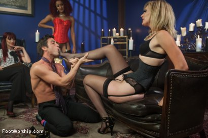 Photo number 11 from A Soul for a Sole:  A Foot Worship Halloween Special shot for Foot Worship on Kink.com. Featuring Lance Hart, Maitresse Madeline Marlowe , Daisy Ducati and Mona Wales in hardcore BDSM & Fetish porn.