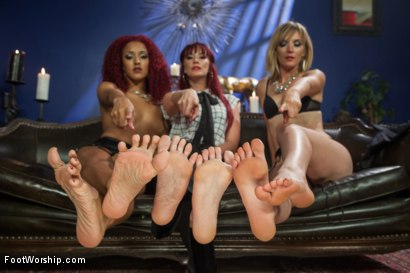 Photo number 7 from A Soul for a Sole:  A Foot Worship Halloween Special shot for Foot Worship on Kink.com. Featuring Lance Hart, Maitresse Madeline Marlowe , Daisy Ducati and Mona Wales in hardcore BDSM & Fetish porn.