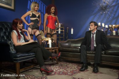 Photo number 9 from A Soul for a Sole:  A Foot Worship Halloween Special shot for Foot Worship on Kink.com. Featuring Lance Hart, Maitresse Madeline Marlowe , Daisy Ducati and Mona Wales in hardcore BDSM & Fetish porn.