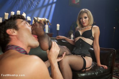Photo number 10 from A Soul for a Sole:  A Foot Worship Halloween Special shot for Foot Worship on Kink.com. Featuring Lance Hart, Maitresse Madeline Marlowe , Daisy Ducati and Mona Wales in hardcore BDSM & Fetish porn.