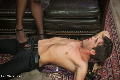 Photo number 13 from A Soul for a Sole:  A Foot Worship Halloween Special shot for Foot Worship on Kink.com. Featuring Lance Hart, Maitresse Madeline Marlowe , Daisy Ducati and Mona Wales in hardcore BDSM & Fetish porn.