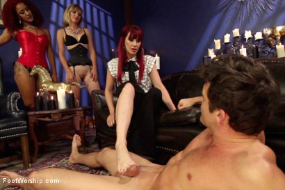 Photo number 15 from A Soul for a Sole:  A Foot Worship Halloween Special shot for Foot Worship on Kink.com. Featuring Lance Hart, Maitresse Madeline Marlowe , Daisy Ducati and Mona Wales in hardcore BDSM & Fetish porn.