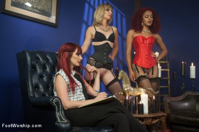 Photo number 1 from A Soul for a Sole:  A Foot Worship Halloween Special shot for Foot Worship on Kink.com. Featuring Lance Hart, Maitresse Madeline Marlowe , Daisy Ducati and Mona Wales in hardcore BDSM & Fetish porn.