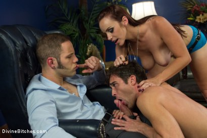 Photo number 6 from Ball Bust. Peg. Cuckold: Unorthodox Methods To SAVE YOUR MARRIAGE shot for Divine Bitches on Kink.com. Featuring Lance Hart, Wolf Hudson and Bella Rossi in hardcore BDSM & Fetish porn.