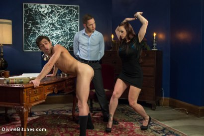 Photo number 12 from Ball Bust. Peg. Cuckold: Unorthodox Methods To SAVE YOUR MARRIAGE shot for Divine Bitches on Kink.com. Featuring Lance Hart, Wolf Hudson and Bella Rossi in hardcore BDSM & Fetish porn.