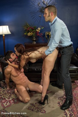 Photo number 15 from Ball Bust. Peg. Cuckold: Unorthodox Methods To SAVE YOUR MARRIAGE shot for Divine Bitches on Kink.com. Featuring Lance Hart, Wolf Hudson and Bella Rossi in hardcore BDSM & Fetish porn.