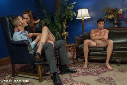 Photo number 3 from Ball Bust. Peg. Cuckold: Unorthodox Methods To SAVE YOUR MARRIAGE shot for Divine Bitches on Kink.com. Featuring Lance Hart, Wolf Hudson and Bella Rossi in hardcore BDSM & Fetish porn.