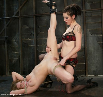 Photo number 11 from Ashley Gracie and Princess Donna Dolore shot for Wired Pussy on Kink.com. Featuring Ashley Gracie and Princess Donna Dolore in hardcore BDSM & Fetish porn.