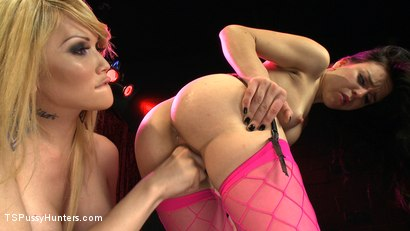 Photo number 1 from The Champagne Room - Her Hard Cock Touches the Dancer shot for TS Pussy Hunters on Kink.com. Featuring Eva Lin and Juliette March in hardcore BDSM & Fetish porn.