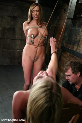 Photo number 8 from Sasha Sparks and Lacie Hart shot for Hogtied on Kink.com. Featuring Lacie Hart and Sasha Sparks in hardcore BDSM & Fetish porn.